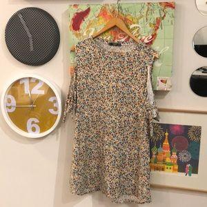 Mango Basics flower print cold shoulder dress, 8